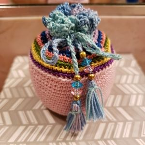 Accessories - Coin jewelry handmade crochet pouch